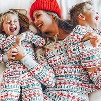 Gym Clothing Christmas Family Matching Pajamas Set Mother Father Kids Clothes Look Outfit Baby Girl Rompers Sleepwear Pijama