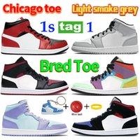 1 1s منتصف ارتفاع شيكاغو 2020 أبيض أسود رويال الوردي الكوارتز الرجال النساء أحذية كرة السلة ترافيس سكوتس unc أحذية رياضية المدربين المفاتيح