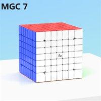 yj mgc 7 m 7x7x7 자기 마법의 속도 YJ 큐브 Yongjun MGC7 M 스티커리스 자석 퍼즐 큐브 MGC 7m