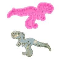 Keychains Shiny Glossy Diy Dinosaur Skeleton Silicone Epoxy Resin Keychain Pendant Jewelry For Valentine Gift Craft