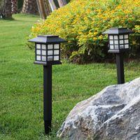 Outdoor Solar Lawn lamps LED Solars garden light Multicolor Stainless Steel Gardens lights Waterproof Street Lamp For GardenDecoration USASTAR