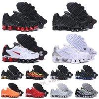 Nike Shox TL De calidad superior tl para hombre zapatos corrientes de las mujeres zapatillas de deporte transpirables negro blanco al aire libre caminar deportes chaussures