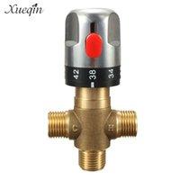 XUEQIN Латунный термостатический смесительный клапан Ванная комната Смесительный смеситель для ванной комнаты Регулятор домашнего улучшения Душевые наборы