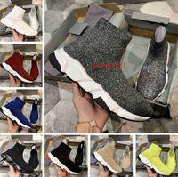Bottes de chaussette à chaussures de haute qualité Série classique Série de chaussures décontractée Vente Triple Noir Triple Noir Red Jaune Fashion Hommes Femmes Sports Sports Sports