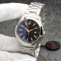 Черный циферблат AQUA TERRA 150M Limited Watch 44 мм Автоматическое MechainCal Движение Океан Нержавеющая Сталь Спортивные Морские Мужские Часы