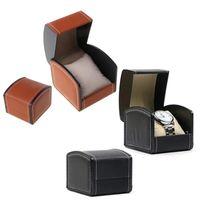 3 couleurs Boîtes de montre de mode en cuir PU de bijoux en cuir porte d'affichage Affichage Boîte de rangement Boîtier Organizer