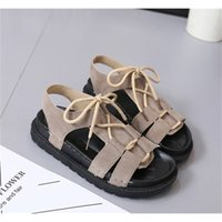 Sandals Thick bottom beach Rome all-match sandals female summer student flat shoes tide