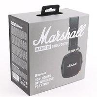 Marshall Major III 3.0 سماعة بلوتوث مع مايكروفون عميق باس هاي فاي دي جي سماعة لاسلكية المهنية مربع التجزئة دي إتش إل الحرة