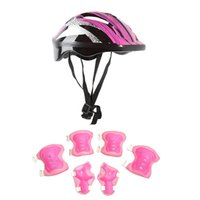 Elbow & Knee Pads 7 Pcs Skating Protective Gear Set Wrist Guard Bicycle Skateboard Ice Roller Protector Kid