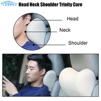 Seat Cushions Car Headrest Neck Pillow Polyester For Feat Chair In Auto Travel Support Memory Foam Cushion Fabric Cover Soft Head Rest