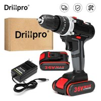 Professiona Electric Drills Drillpro 21V Cordless Drill Screwdriver Mini Wireless Power Driver DC Lithium-Ion Battery 3 8-Inch DIY Tools
