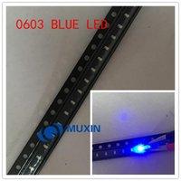 가벼운 구슬 500pcs / lot 작은 파란색 램프 0603 SMD LED 발광 다이오드 460-470nm