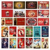 Vintage Fallout 3 4 gioco Metal Tar Signs Signs Art Stampa Adesivi per Pub Bar Club Shop Decorazione domestica Nuka Cola Poster YN183 Q0723