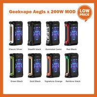 원래 GeekVape Aegis x 200W TC MOD 키트 ECIGS 칩셋 칩셋으로 듀얼 18650 배터리 Vape Box Mods