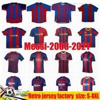 03 04 MESI Retro Jerseys 2003-2021-Messi Era-futebol Club Jersey História 05 06 Ronaldinho Ronaldo 100th Camisa de Futebol Xavi Deco Camiseta de Futbol