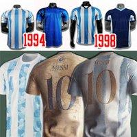 Argentina Messi Dybala Lautaro Kun Agüero Retro 1978 1986 Maradona Soccer Jersey Home Away Maillot de Foot Football Shirt