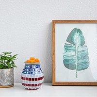 Simple Modern Home Life Mosaikofen Sieben Farbe allmähliche Änderung Lampe Aromatherapie Block Wachsschmelzgerät