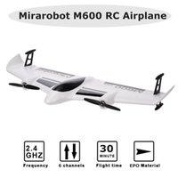 Mirarobot M600 RC Airplane 2.4 GHz RC Aircraft 6CH Telecomando Telecomando Brushless Motor Foam Glider Rc Glider Plane Aerea Ala Ala Ala