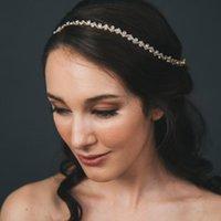 Cabelo Clipes Barrettes Stonesfans Casamento Ornamentos 2021 Luxo Cristal Headband Cadeia Ondas Femininas Forma Rhinestone Headdress Jóias