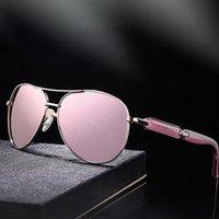 Óculos de sol Vazrobe Pollarized Mulheres rosa espelhado óculos de sol para mulher designer de marca dirigindo senhoras elegante sombra feminina de luxo