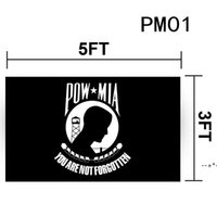 3 X5 Ft POW MIA Flag Vivid Color And Fade Proof - Canvas Header Banner Flags You Are Not Forgotten Prisoner Of War Flags Polyester HHF10583
