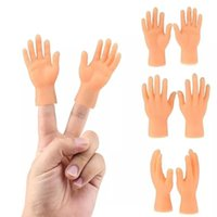 2pcs pair Silicone Finger Puppets Left Hand Right Halloween Prank Toy Mini Hide And Seek Game Novelty For Kids Pets Outdoor Gadgets