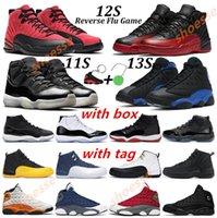 Erkek Basketbol Ayakkabıları 11 Jubilee 25th Yıldönümü Bred Concord 11s Ters Grip Oyunu 12 S Red Flint Siyah Hiper Kraliyet Denizyıldızı 13 S Kadın Sneakers