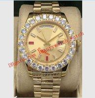 시계 밴드 뉴스 도착 3 스타일 망 II 18K 골드 41mm 다이아몬드 루비 시계 Bigger Diamonds Bezel 218235 자동 패션 남성 시계 손목 시계