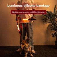 Bande lumineuse à LED pour animaux de compagnie Laure multifonction Collier rougeoyant corde corde d'avertissement coloré signal flash lampe bandage chien fournitures de colliers laisse
