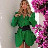 Women's Suits & Blazers Fashion Casual Blazer Elegant Women Coat European American Suit Spring Autumn Pure Color Jacket Female Clothes Lady