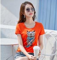2021 lentejuelas de la pista camiseta de lujo de la camiseta de lujo diseñador de manga corta con abalorios de cristal 3d patrón elegante t shirt delgado oficina de negocios mujeres verano otoño estampado tops tops