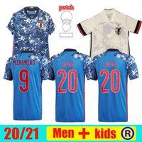 2021 22 Giappone Giappone 100th Anniversary Soccer Jerseys Fans versione Player Special 100 Th Anni Honda Tsubasa Kamada Shibasaki Camicia calcio Camicia Cartone Numero Uomini Kid Kit