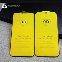 9D Full Cover Tempered Glass Screen Protector 9H Anti-Glare For iPhone 13 Pro Max 12 Mini 11 X Xr Xs 8 7 6 6S Plus with Paper Box
