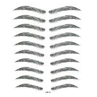Tatuaggi temporanei (3) 3d falso sopracciglio delle donne bioniche maniche tatoo Adesivi impermeabili Adesivi per l'occhio Autoadesivo del tatuaggio dell'hennè