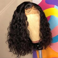 4x4 Lace Closure Frontal Wig Pre Plucked Natural Hairline Deep Wave Brazilian Virgin Human Hair Short Bob Front Wigs For Black Women Bleached Knots