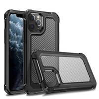 Carbon Fiber Shockproof Phone Cases for iPhone 13 12 11 Pro Max XS XR X 6 7 8 Plus SE2 Samsung S20 Ultra
