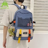 Backpack Fashion Water Proof Female Bookbag Nylon Women For Teenagers Girl College Men Casual School Bag Multifunction Handbag