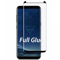 Full Adhesive Glue Phone Screen Protectors Case Friendly Tempered Glass 3D 5D for Samsung S9 S10 S20 Plus Ultra Note 9 10