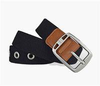 designer Belts Mens Canvas Belt Fashion waistbands Men Leather Black Business Women Big Gold silver Buckle Womens Classic Casual Ceinture NO Box