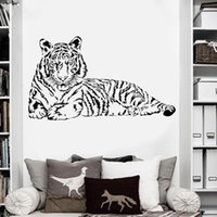 Wall Stickers Animal Wallpaper Large Size Tiger Home Decor Bedroom Living Room Art Decal Sticker