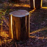 Klasik Çatlak Günlük Işık Açık Simülasyon Stump Lamba Villa Backyard Park Aydınlık Reçine Bahçe Peyzaj Aydınlatma Çim Lambaları