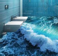 مخصص الكلمة جدارية 3d مجسمة المحيط مياه البحر نوم الحمام الكلمة خلفيات pvc للماء التصاق الذاتي خلفيات 684 v2