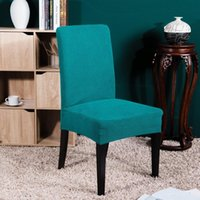 Chair Covers 2 Pcs Elastic Cover Corn Grain Pattern Dining Room El Party Simple Modern 10 Solid Colors 4 Armchair Set