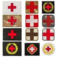 Médicale tactique de l'armée Velcro Croix-Rouge Croix-Rouge Tissu Military Militaire Brodé Sac extérieur Stickers Stickers Soldat Soldat