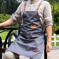 Aprons Canvas Kitchen For Woman Men Brief Chef Work Apron Grill Restaurant Bar Shop Cafes Beauty Nails Studios Uniform