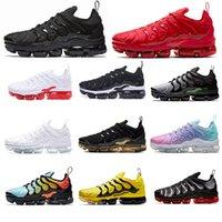 2021 الرجال بالإضافة إلى النساء الأحذية الثلاثي الأحمر TNS المدربين وسادة سوداء أبيض أزرق جامعة الباستيل الذهب جودة عالية أحذية رياضية 36-46