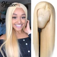 18-30inch 613 Blonde green blue  pink red none Lace Front Wigs For Women Transparent Synthetic Wig Blonde Bone Straight simulation human hair