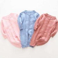 Printemps et automne bébé tricoté kharton hiver hiver manches longues pull pouce de coton coton costume en coton