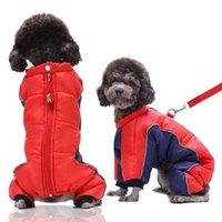 개 의류 겨울 스티치 의상 Ropa Poodle Parka de Perro Korean Clothes 가죽 끈 링이있는 닥스 훈트 가죽 껍질을 벗긴 까마귀