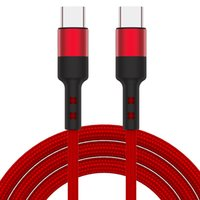 60W 3A PD USB C Type-C Cables 1M-3FT 2M-6FT Fast Charging Braided Cable for Cellphone Tablet Type C Device 0.5M